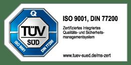 Zertifiziert nach den Vorgaben des TÜV Süd
