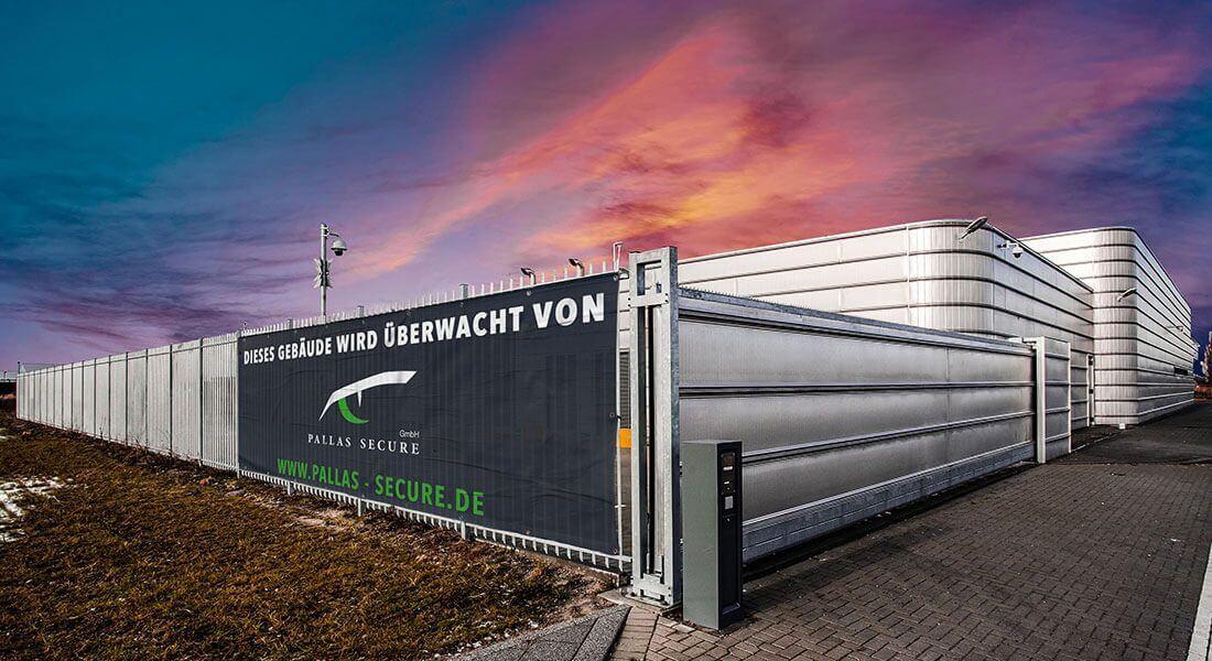 Objektschutz von einem Firmengebäude durch die Pallas Secure GmbH